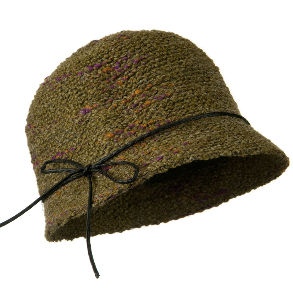 Cloche Acrylic Color Fleck Hat - Olive - Hats and Caps Online Shop - Hip Head Gear