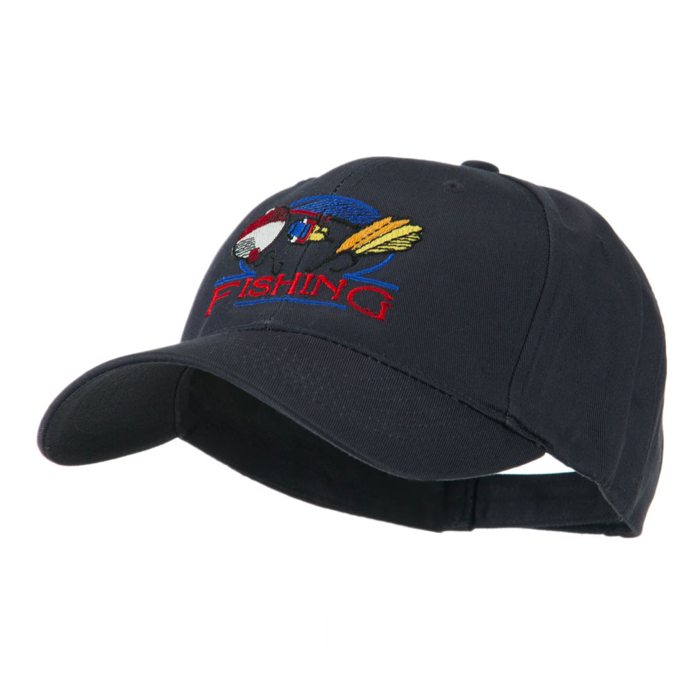 Fishing Fly and Bobber Embroidered Cap - Navy - Hats and Caps Online Shop - Hip Head Gear