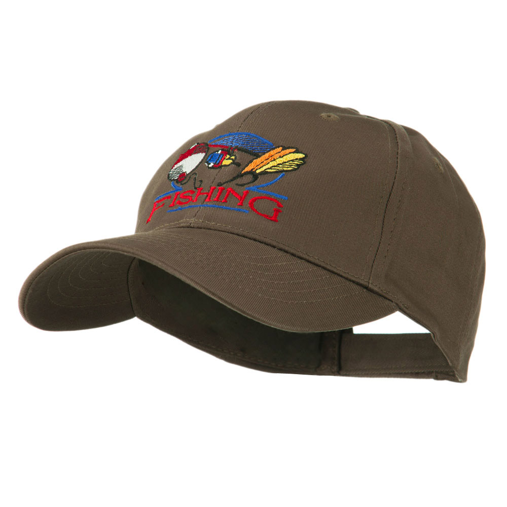 Fishing Fly and Bobber Embroidered Cap - Brown - Hats and Caps Online Shop - Hip Head Gear