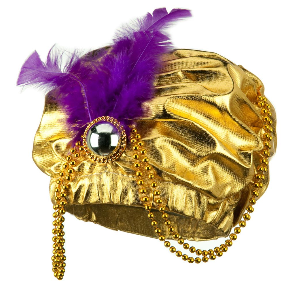 Gold Arabian Princess Hat - Gold - Hats and Caps Online Shop - Hip Head Gear