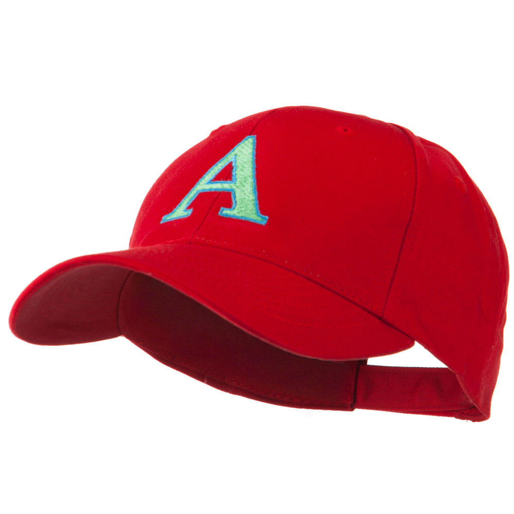 Greek Alphabet Alpha Embroidery Cap - Red