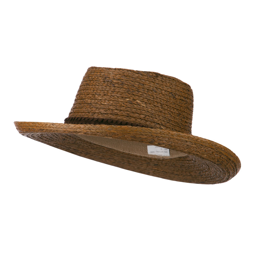 Gambler Braided Raffia Hat - Brown - Hats and Caps Online Shop - Hip Head Gear