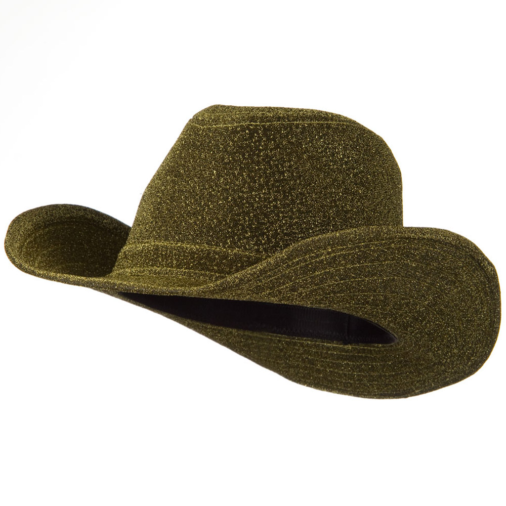 Glitter Cowboy Hat - Gold - Hats and Caps Online Shop - Hip Head Gear