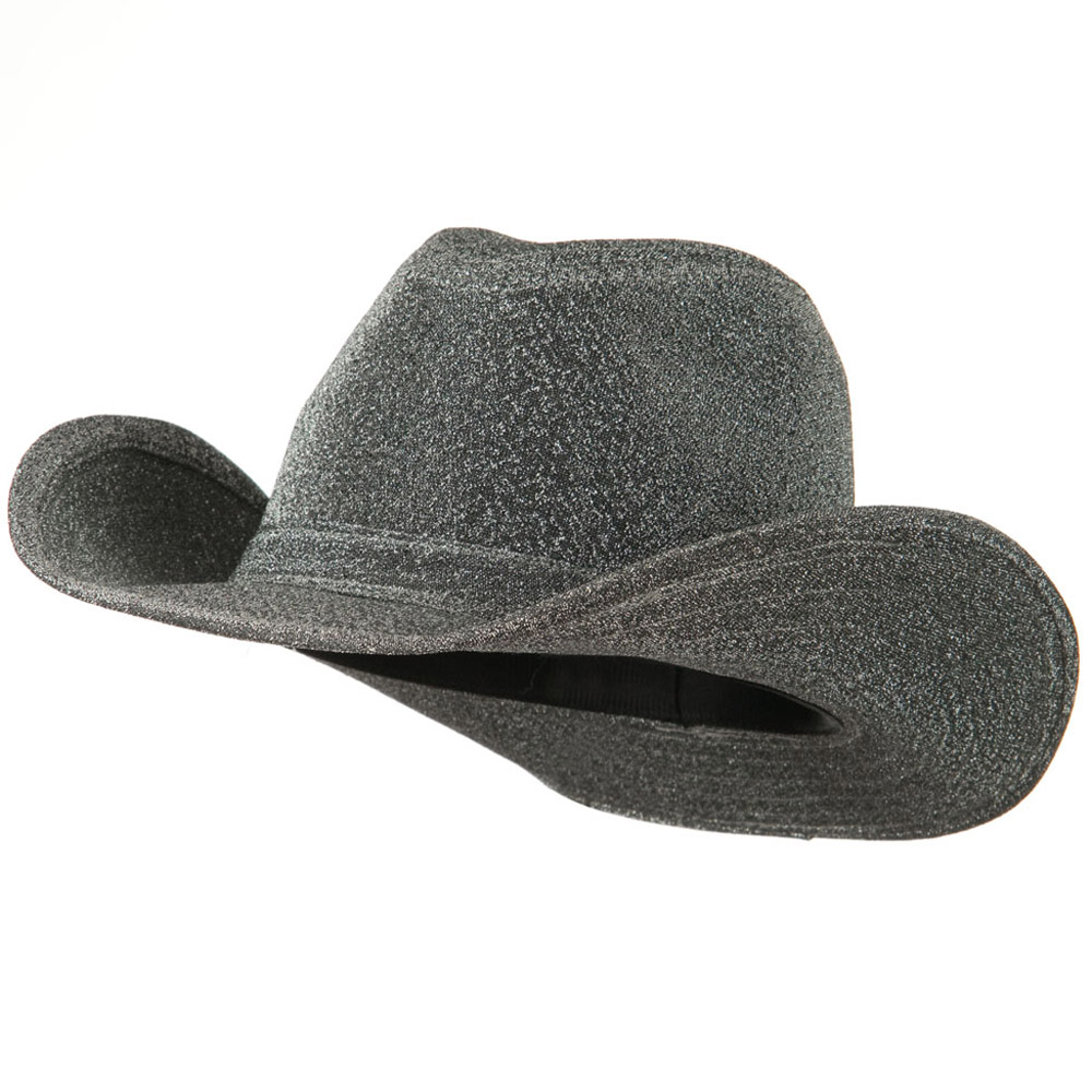 Glitter Cowboy Hat - Silver - Hats and Caps Online Shop - Hip Head Gear