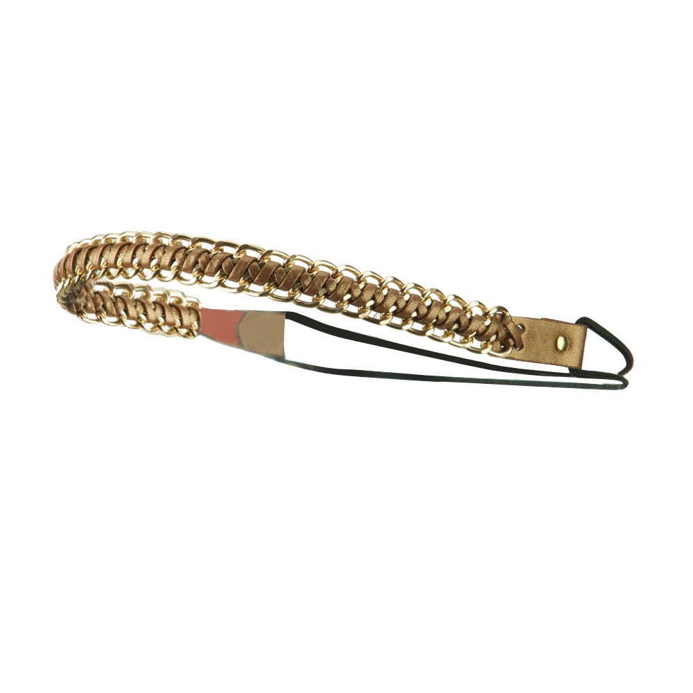 Gold Chain Elastic Headband - Copper - Hats and Caps Online Shop - Hip Head Gear