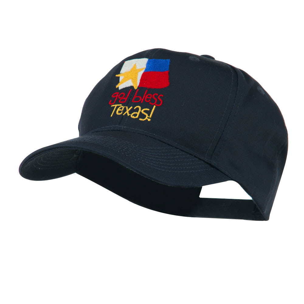 God Bless Texas Embroidered Cap - Navy - Hats and Caps Online Shop - Hip Head Gear