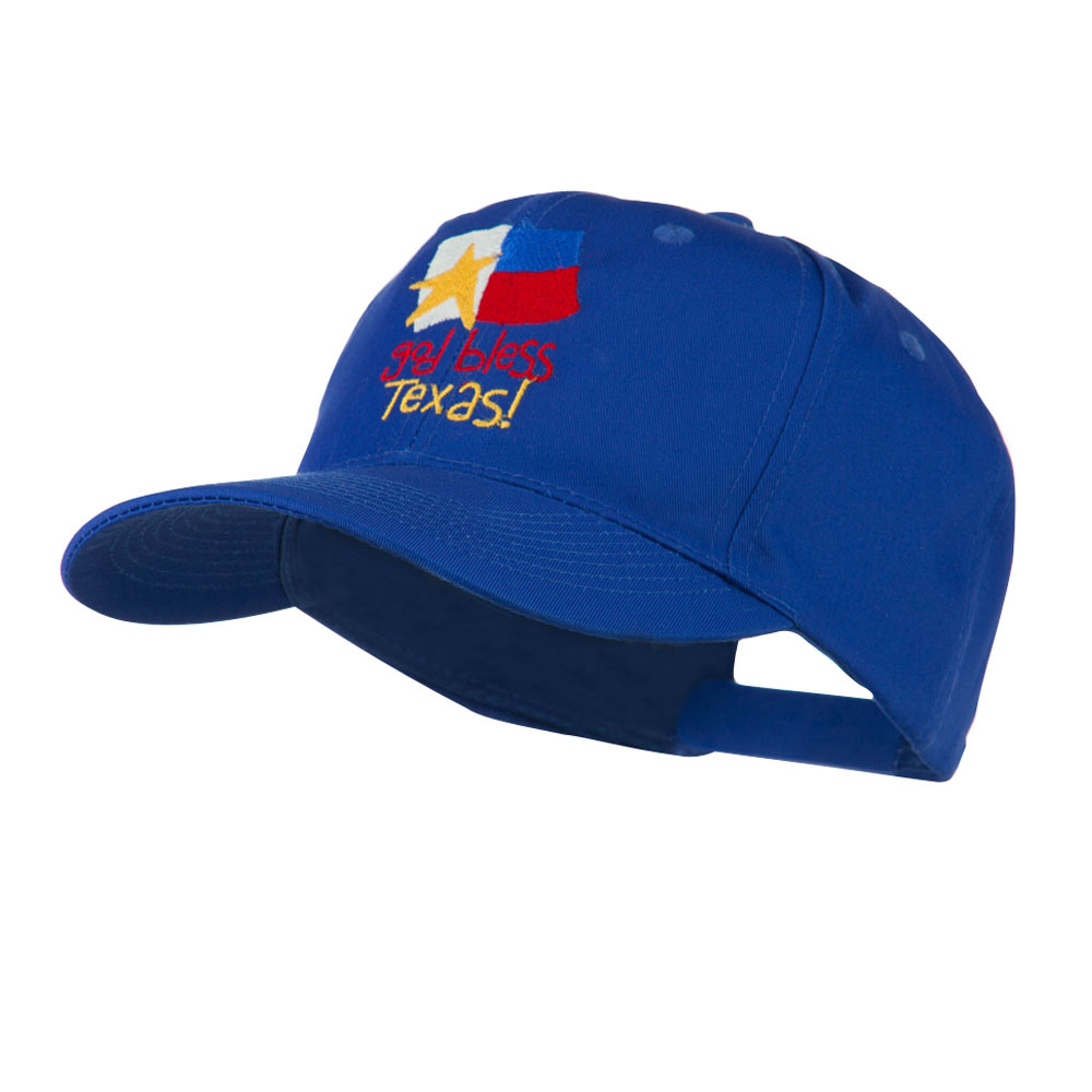 God Bless Texas Embroidered Cap - Royal - Hats and Caps Online Shop - Hip Head Gear