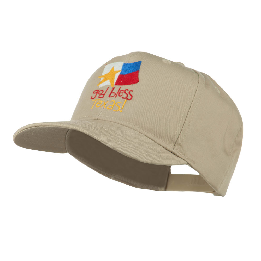 God Bless Texas Embroidered Cap - Khaki - Hats and Caps Online Shop - Hip Head Gear
