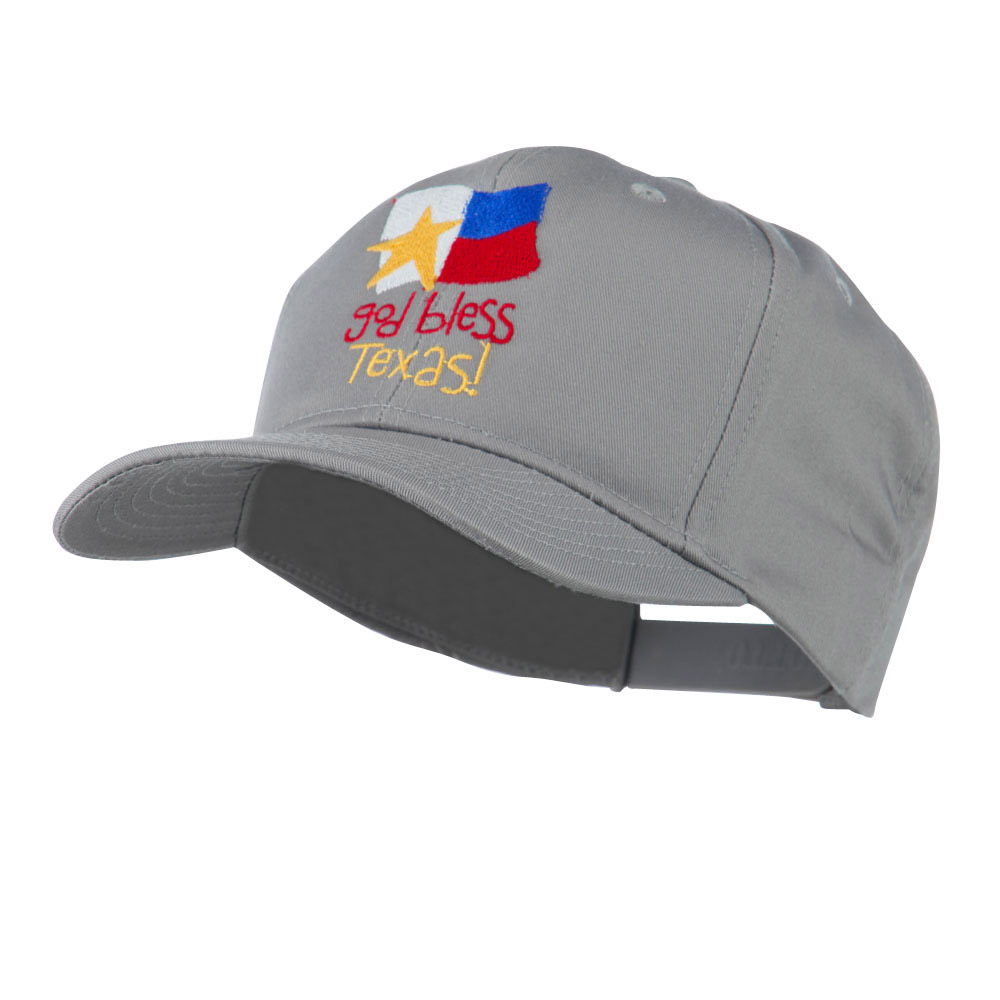 God Bless Texas Embroidered Cap - Grey - Hats and Caps Online Shop - Hip Head Gear