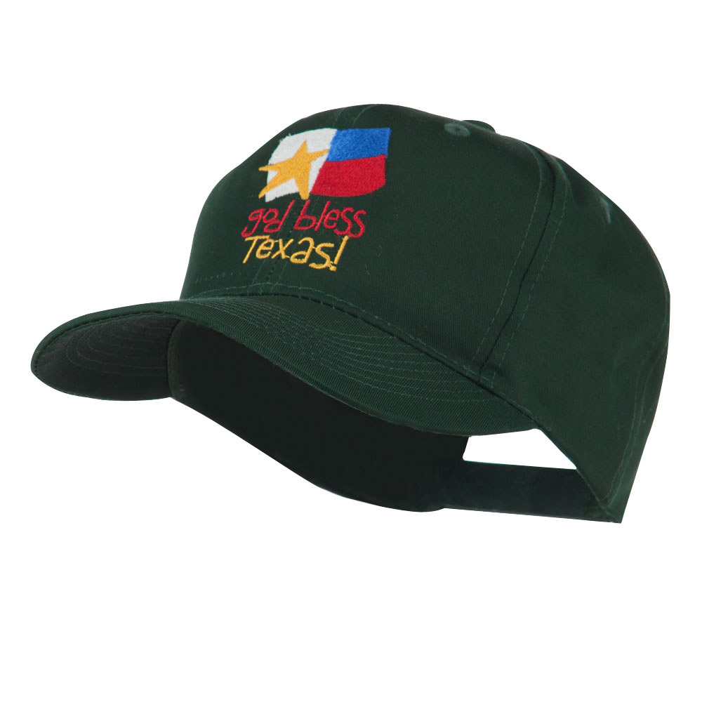God Bless Texas Embroidered Cap - Green - Hats and Caps Online Shop - Hip Head Gear