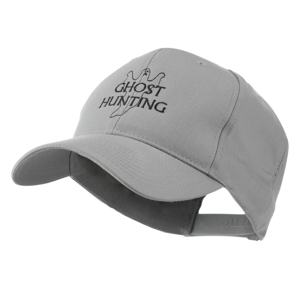 Ghost Outline with Hunting Embroidered Cap - Grey - Hats and Caps Online Shop - Hip Head Gear