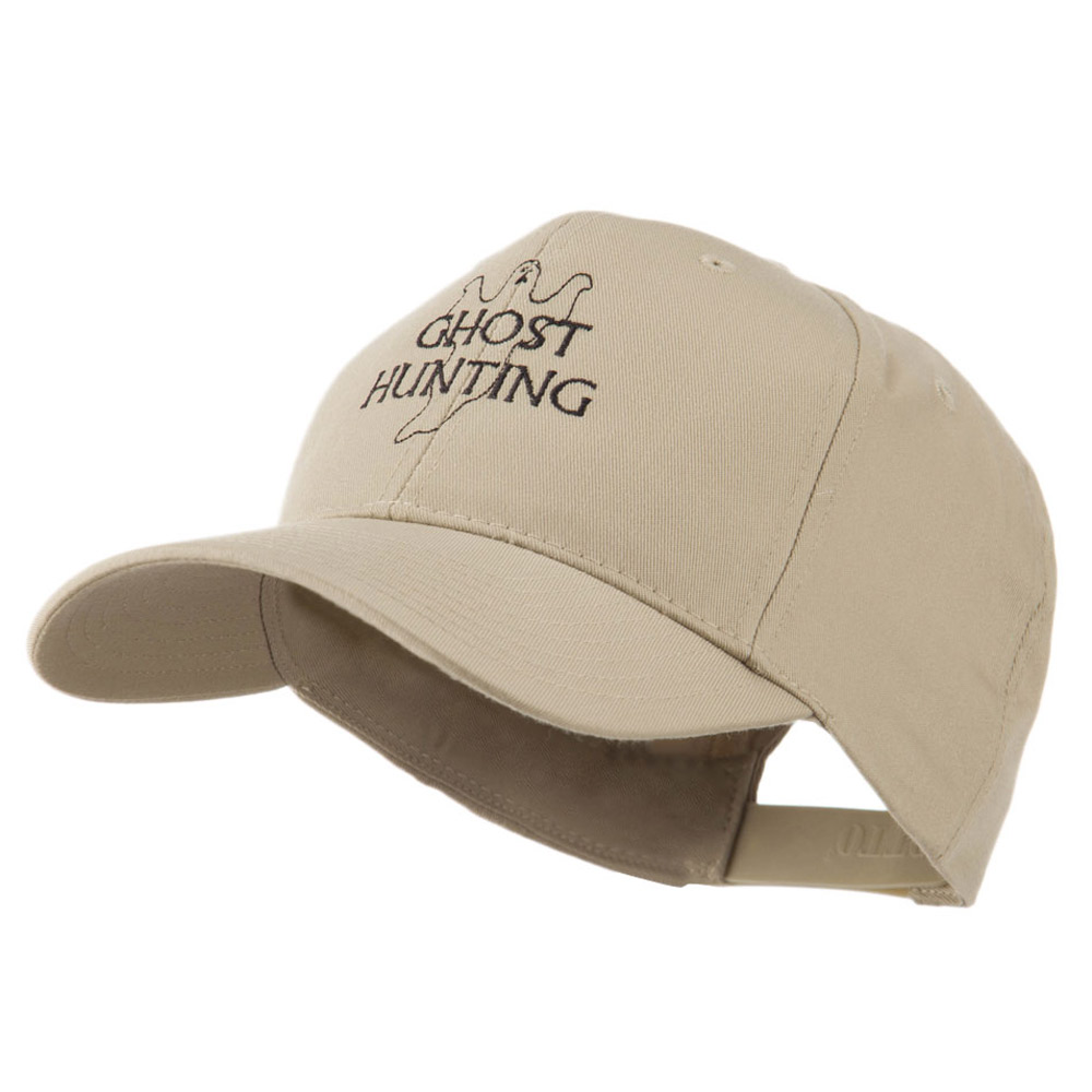 Ghost Outline with Hunting Embroidered Cap - Khaki - Hats and Caps Online Shop - Hip Head Gear