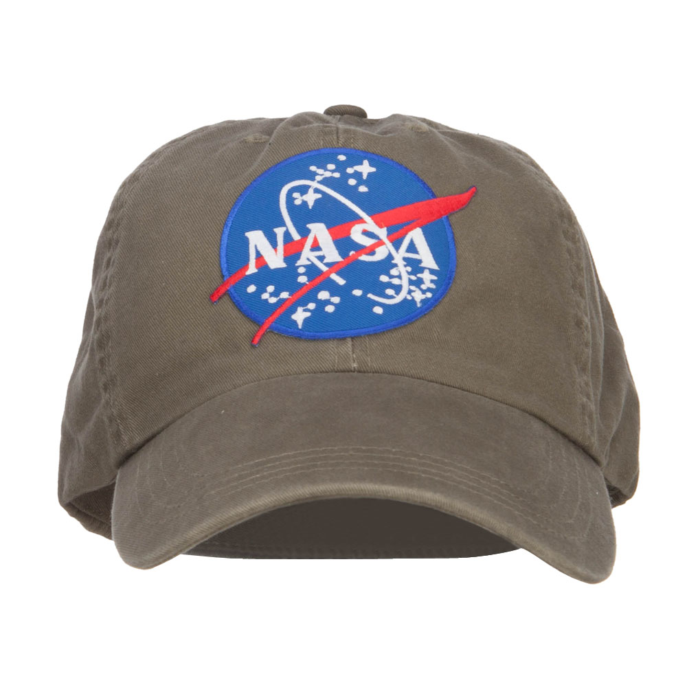 Lunar NASA Patched Big Size Fitted Cap - Olive