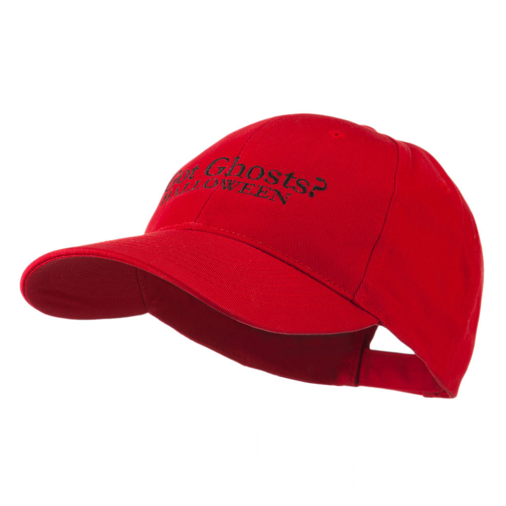Got Ghosts Halloween Embroidered Cap - Red - Hats and Caps Online Shop - Hip Head Gear
