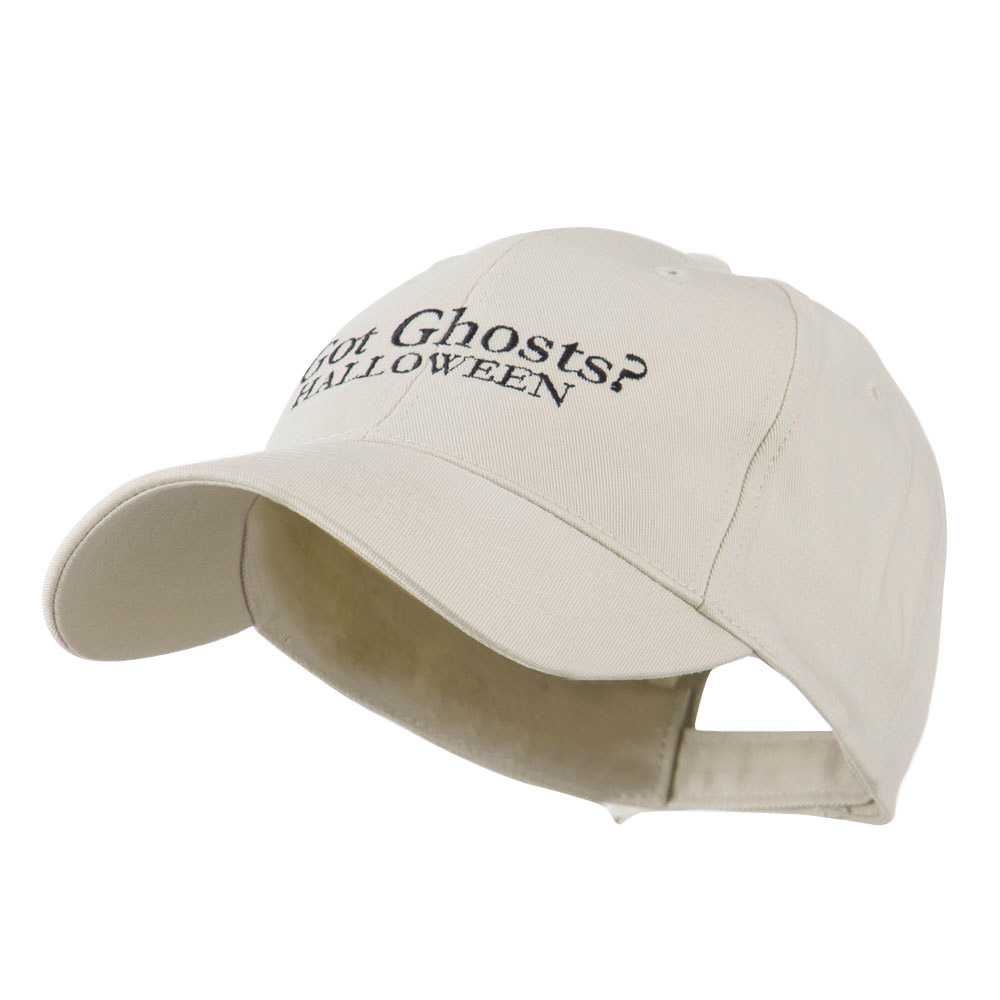 Got Ghosts Halloween Embroidered Cap - Stone - Hats and Caps Online Shop - Hip Head Gear