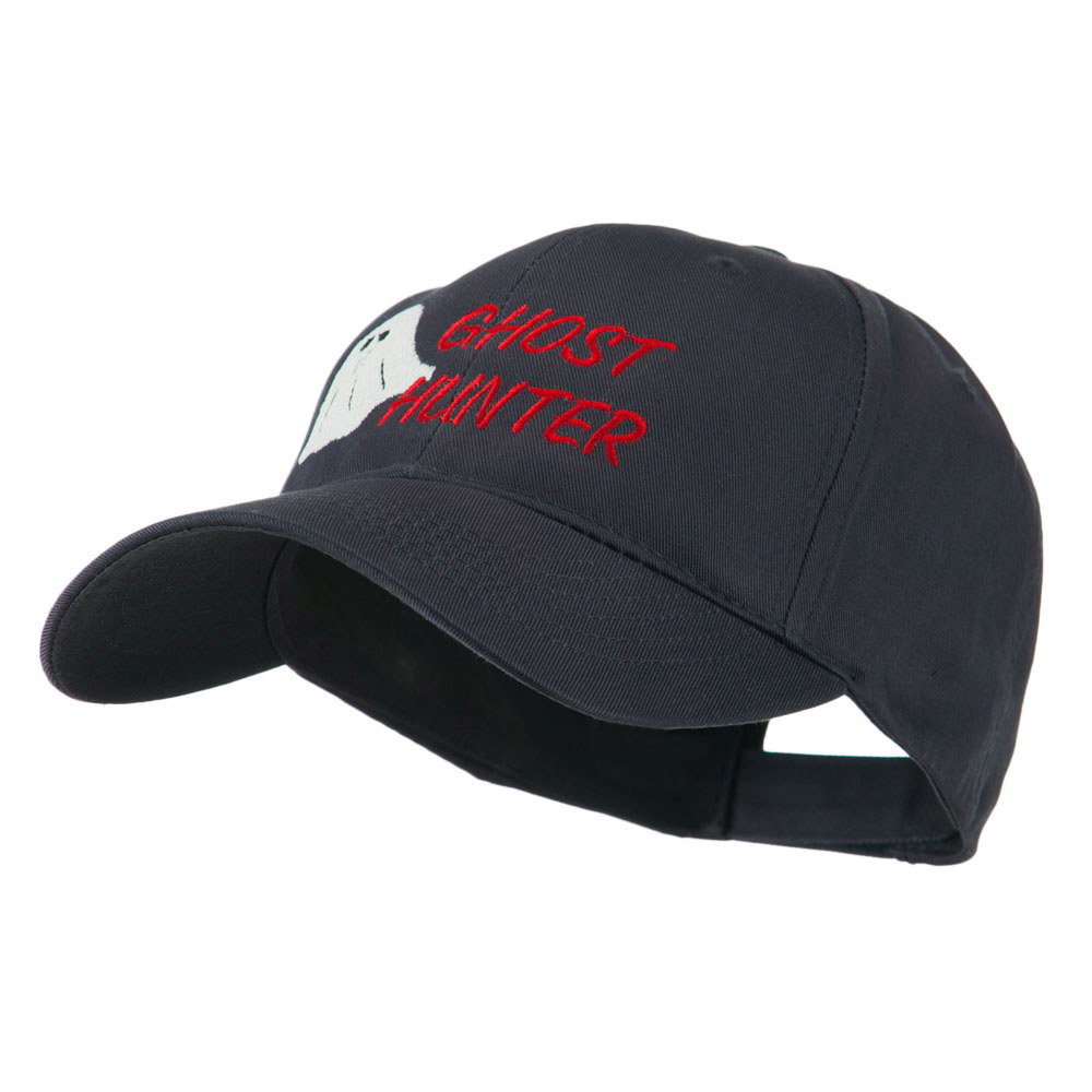 Halloween Ghost Hunter Embroidered Cap - Navy - Hats and Caps Online Shop - Hip Head Gear