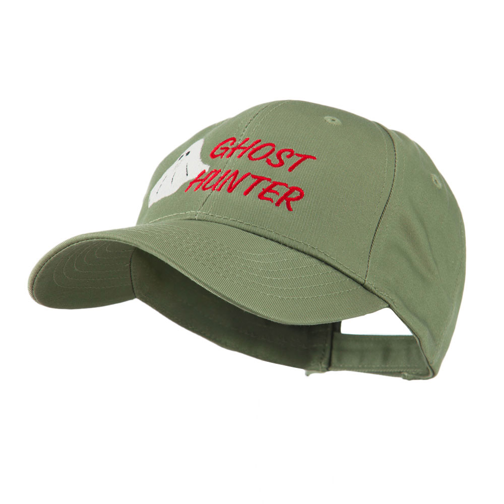 Halloween Ghost Hunter Embroidered Cap - Olive - Hats and Caps Online Shop - Hip Head Gear