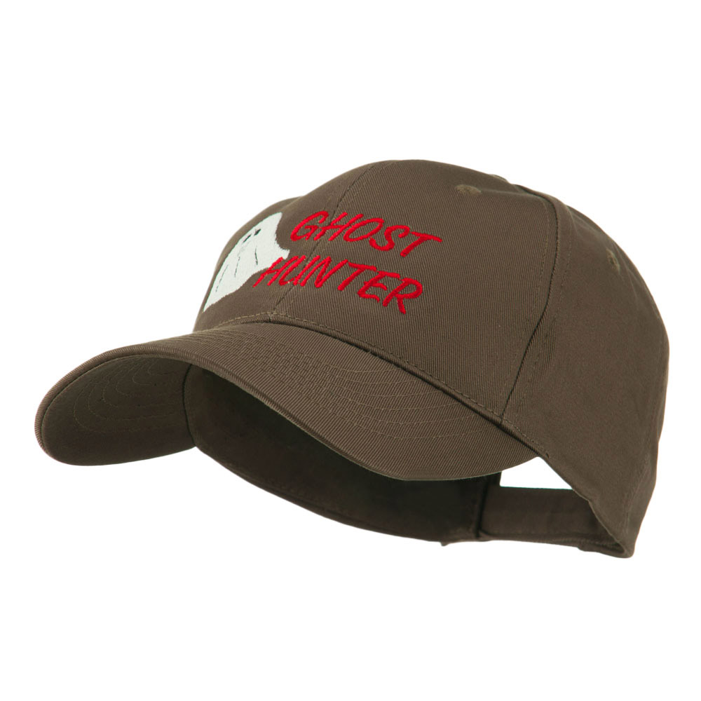 Halloween Ghost Hunter Embroidered Cap - Brown - Hats and Caps Online Shop - Hip Head Gear