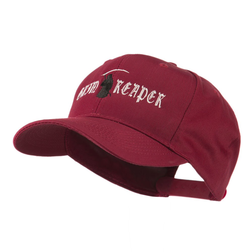 Halloween Grim Reaper Embroidered Cap - Maroon - Hats and Caps Online Shop - Hip Head Gear