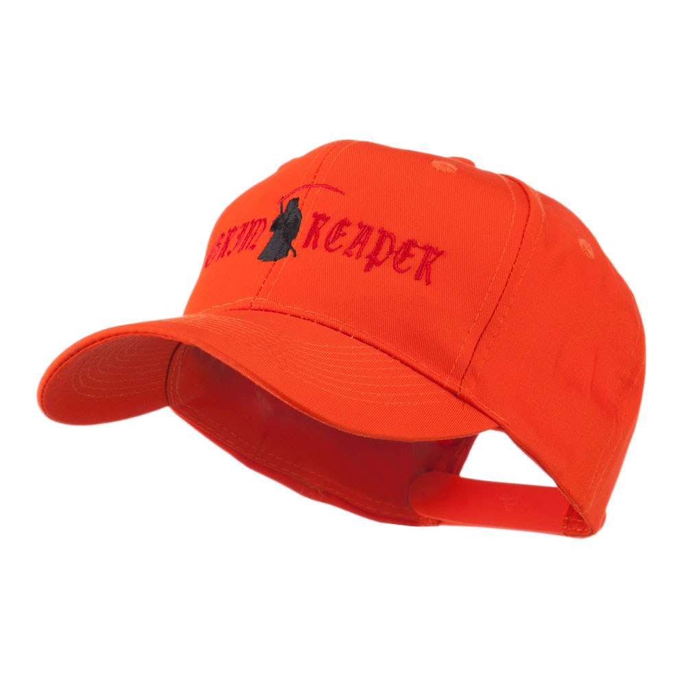 Halloween Grim Reaper Embroidered Cap - Orange - Hats and Caps Online Shop - Hip Head Gear