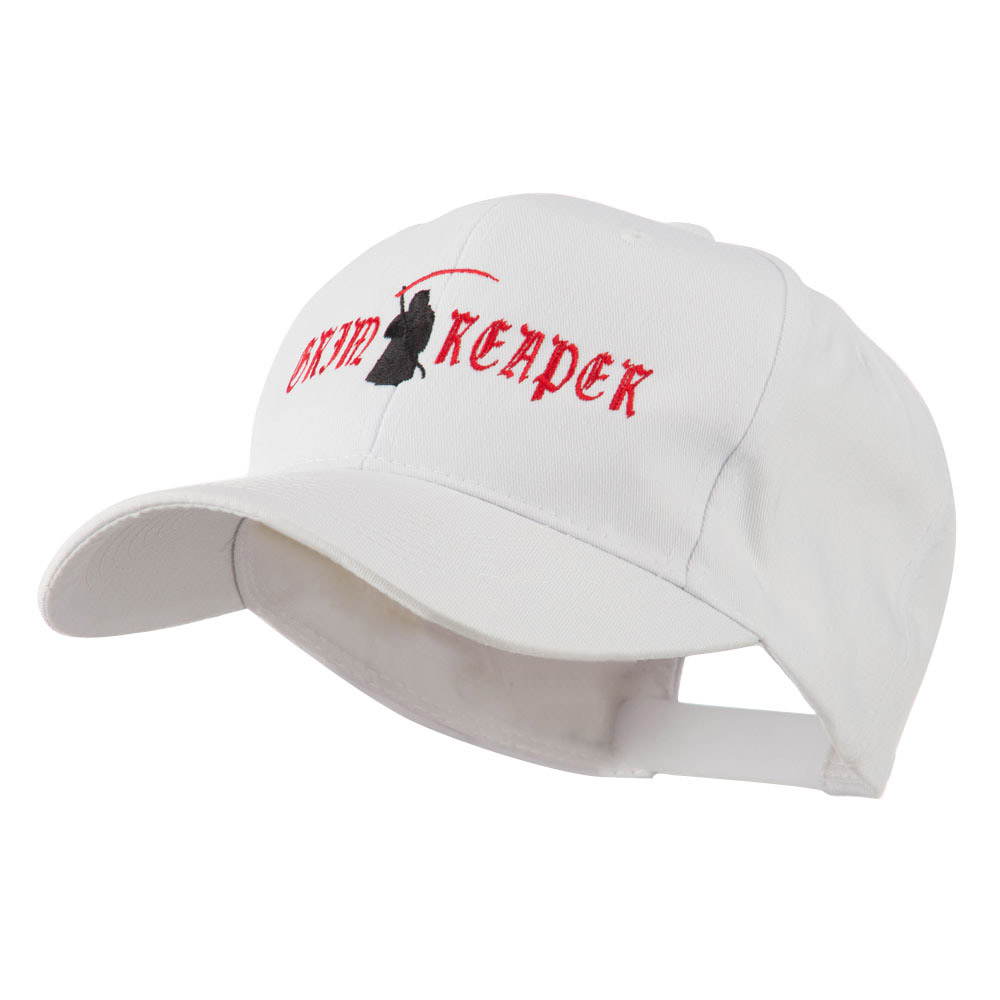 Halloween Grim Reaper Embroidered Cap - White - Hats and Caps Online Shop - Hip Head Gear