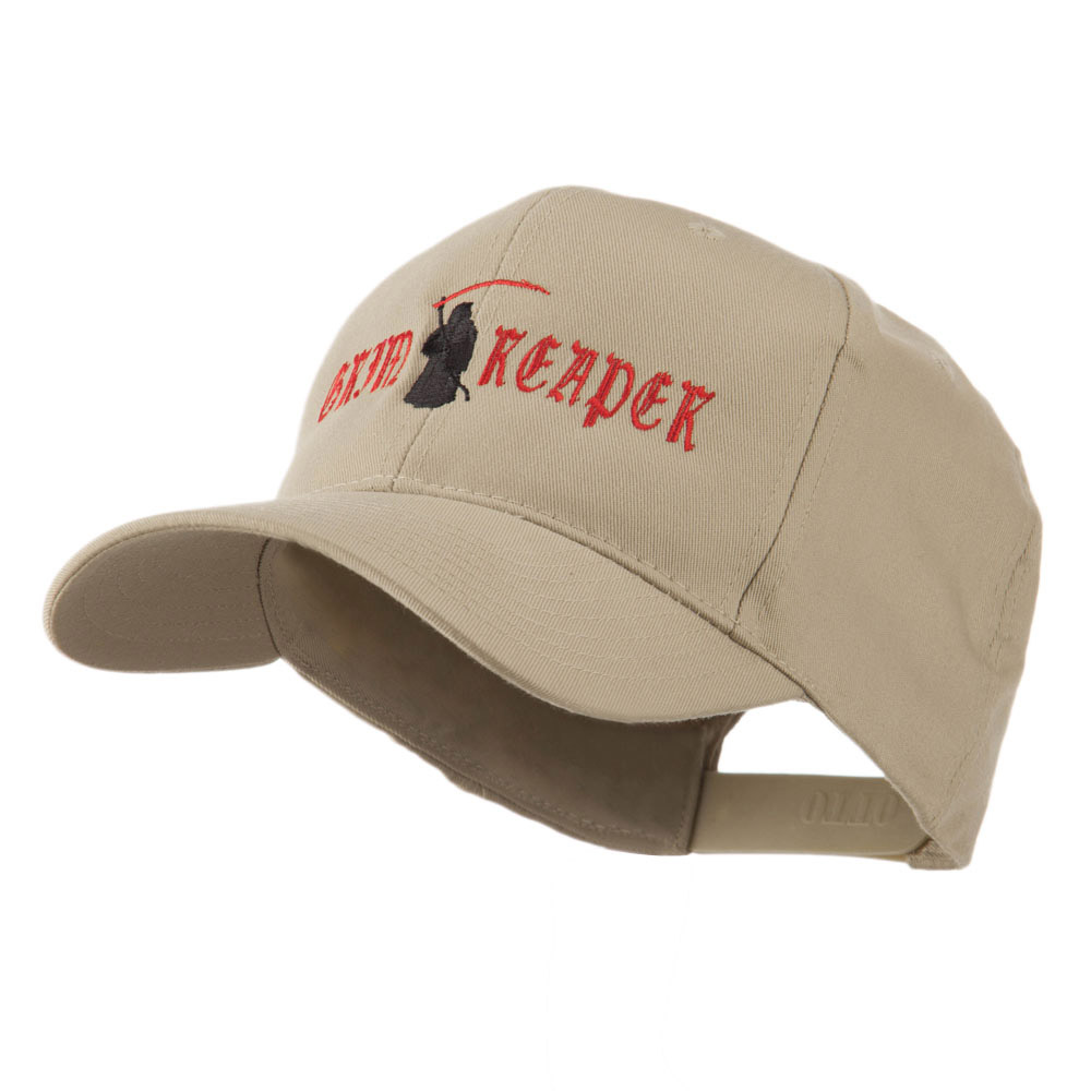 Halloween Grim Reaper Embroidered Cap - Khaki - Hats and Caps Online Shop - Hip Head Gear