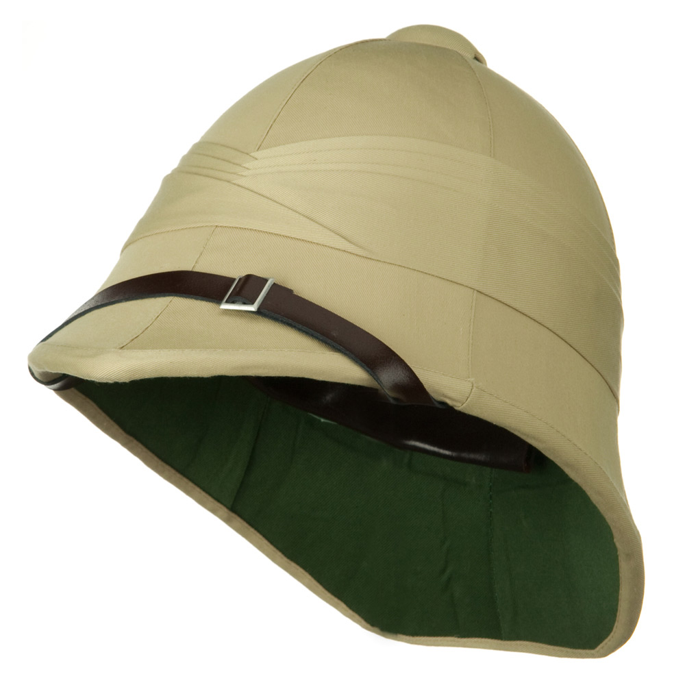 Genuine Tree Bark Pith Helmet - Khaki British - Hats and Caps Online Shop - Hip Head Gear