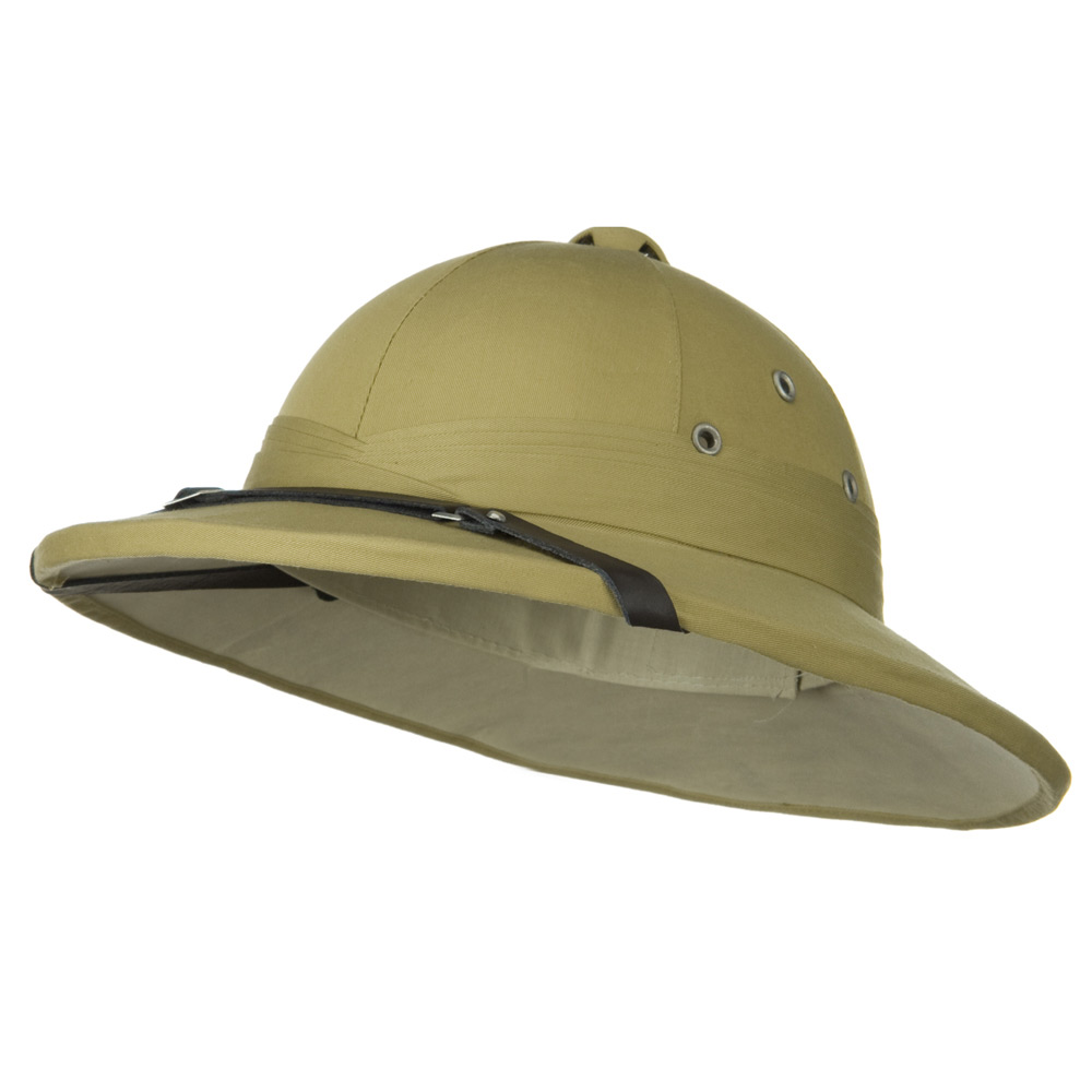 Genuine Tree Bark Pith Helmet - Khaki French - Hats and Caps Online Shop - Hip Head Gear