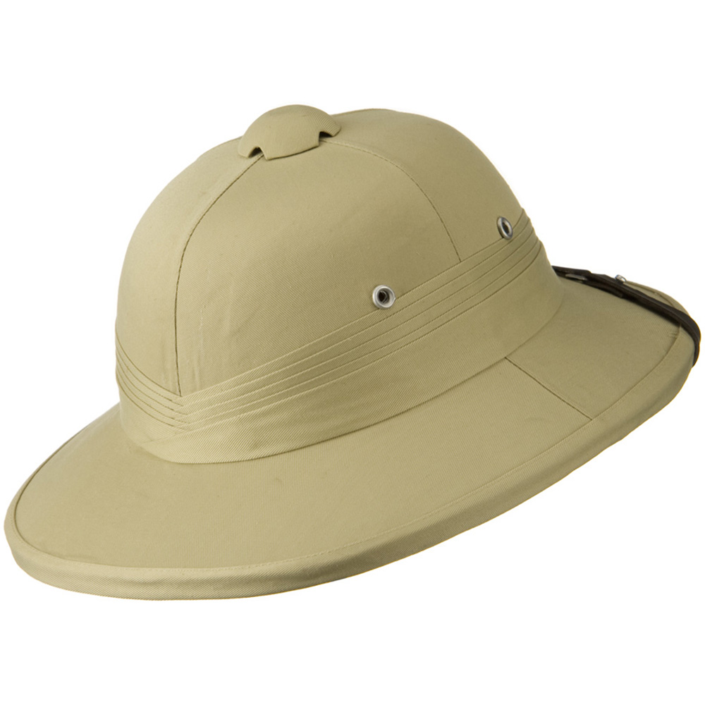 Genuine Tree Bark Pith Helmet - Khaki Indian - Hats and Caps Online Shop - Hip Head Gear