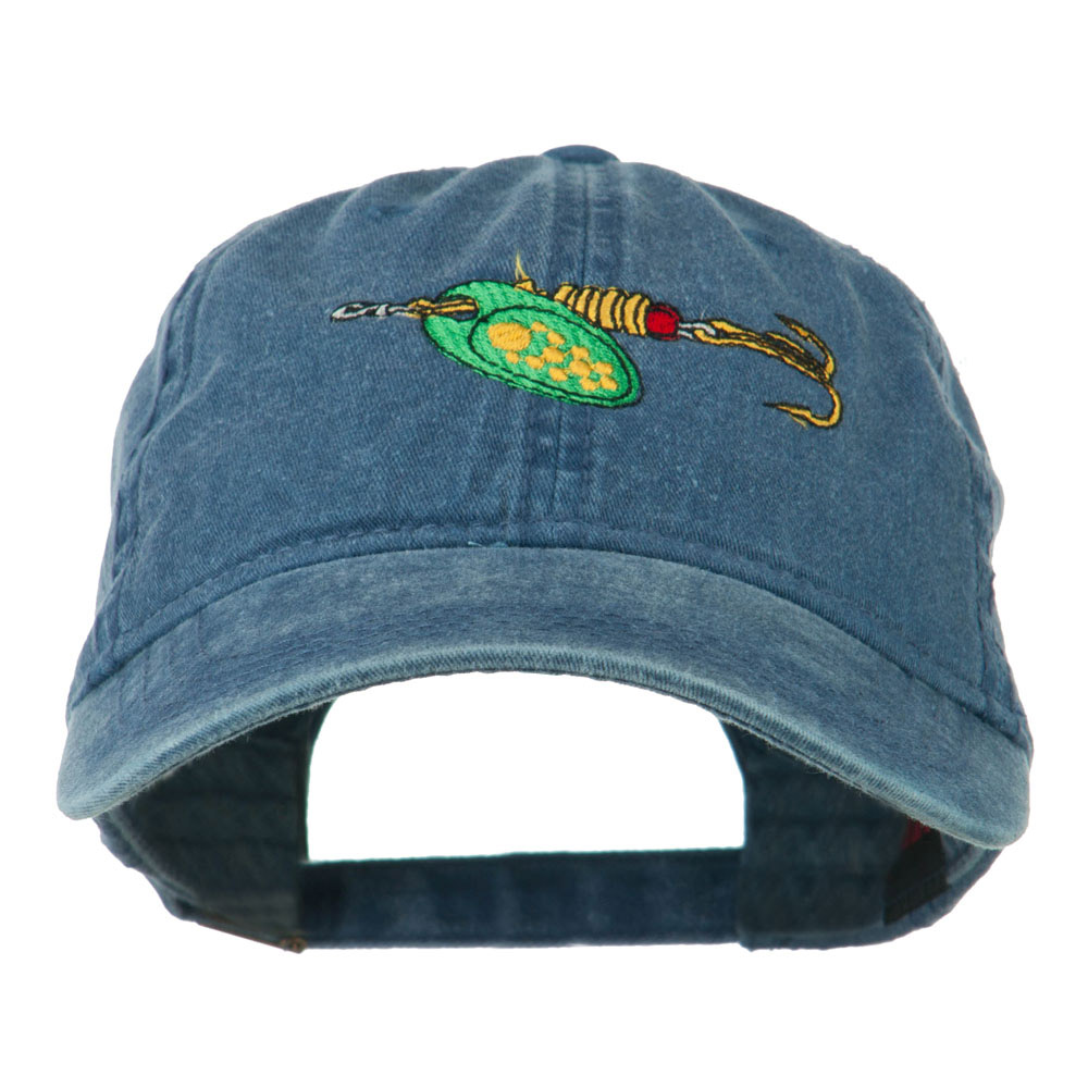 Fishing Green Spinner Embroidered Washed Cap - Navy - Hats and Caps Online Shop - Hip Head Gear