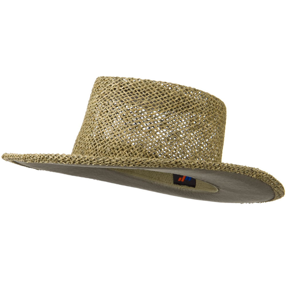 Gambler Straw Hat with UV Protection - Natural - Hats and Caps Online Shop - Hip Head Gear
