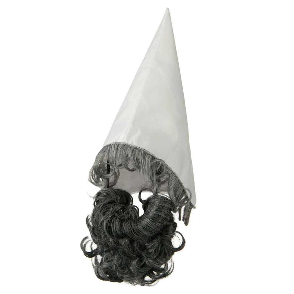 Gnome Hat and Beard Set - White Grey - Hats and Caps Online Shop - Hip Head Gear