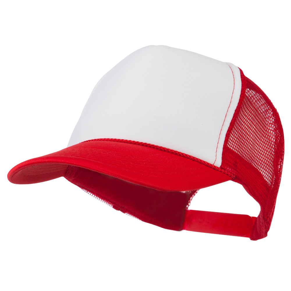 Golf Style Mesh Back Ball Cap - Red