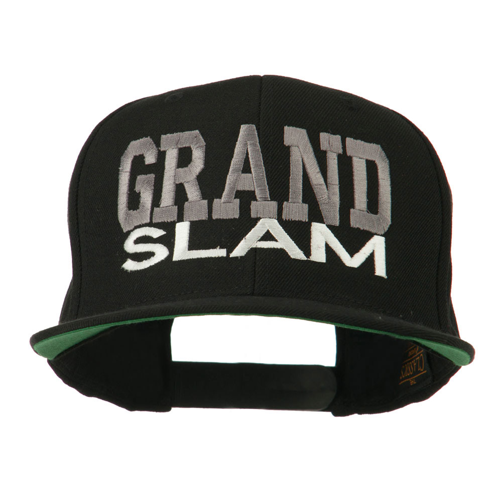 Grand Slam Embroidered Cap - Black - Hats and Caps Online Shop - Hip Head Gear