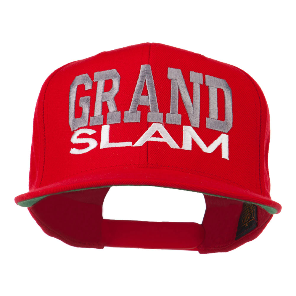 Grand Slam Embroidered Cap - Red - Hats and Caps Online Shop - Hip Head Gear