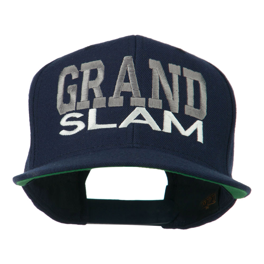Grand Slam Embroidered Cap - Navy - Hats and Caps Online Shop - Hip Head Gear