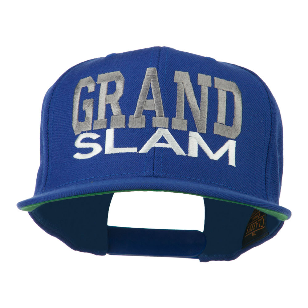 Grand Slam Embroidered Cap - Royal - Hats and Caps Online Shop - Hip Head Gear