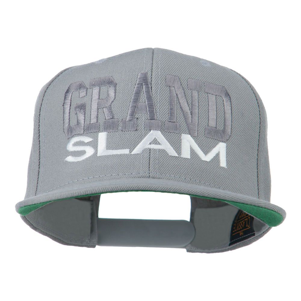 Grand Slam Embroidered Cap - Silver - Hats and Caps Online Shop - Hip Head Gear