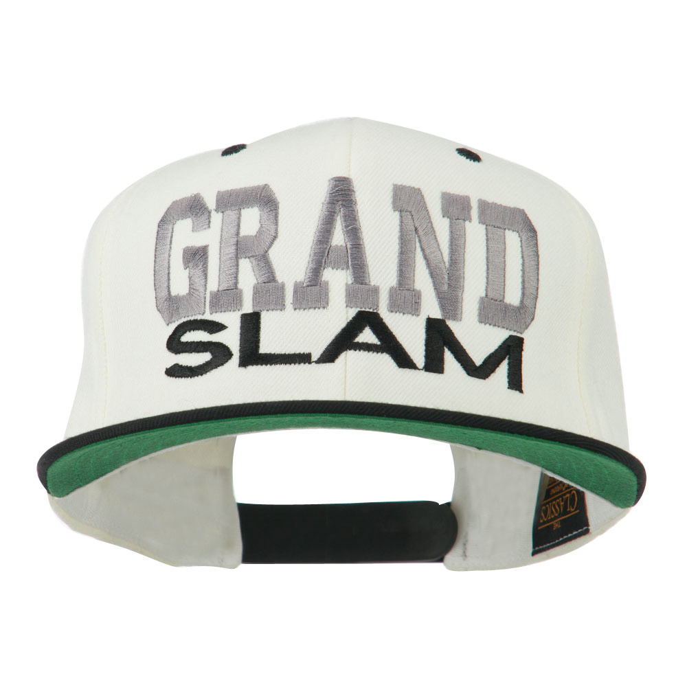 Grand Slam Embroidered Cap - Natural Black - Hats and Caps Online Shop - Hip Head Gear