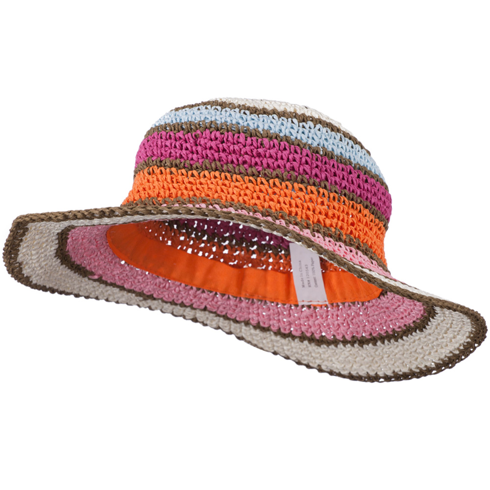 Girl's Toyo Striped Designed Hat - Cream Multi - Hats and Caps Online Shop - Hip Head Gear