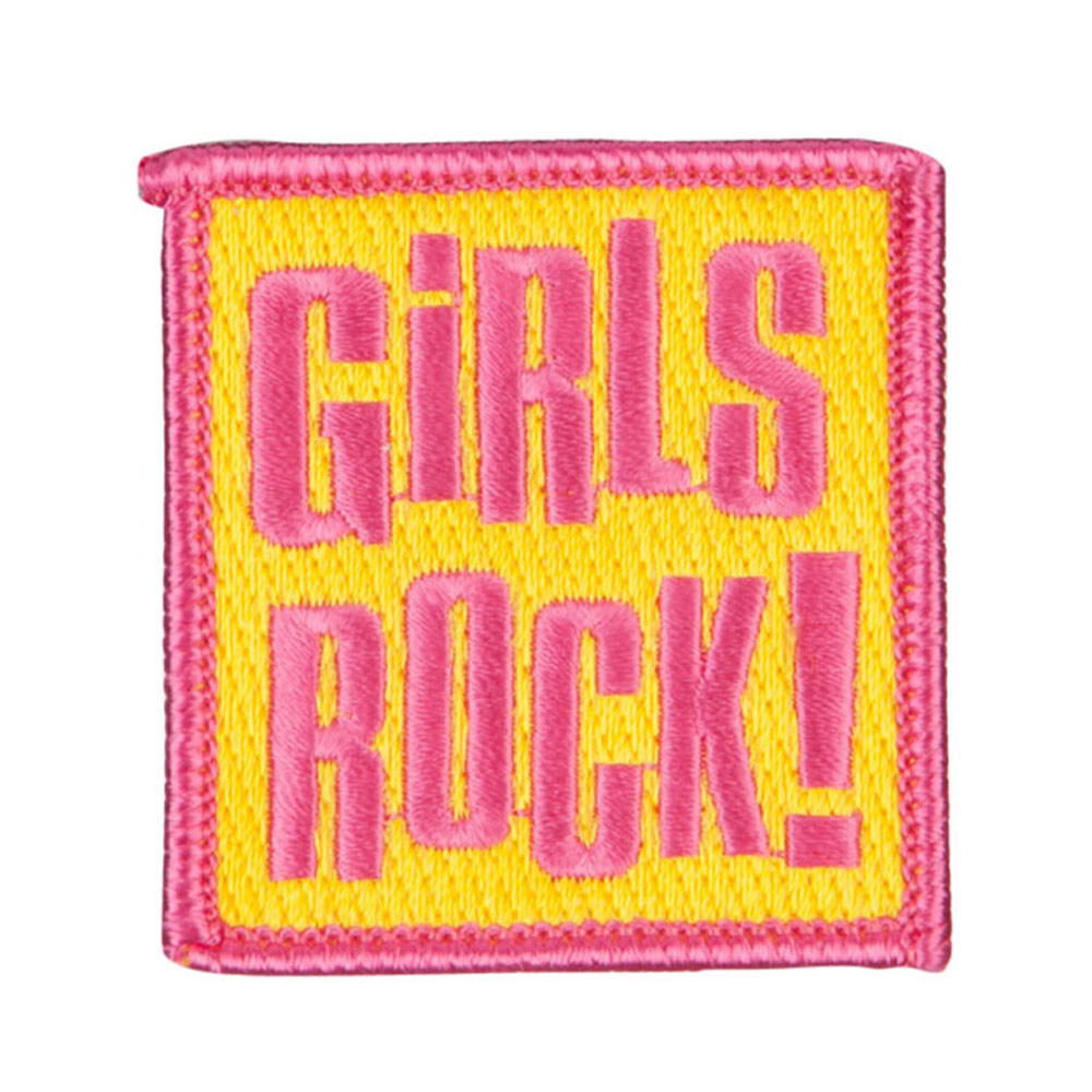 Girl Things Embroidered Patches - Rock