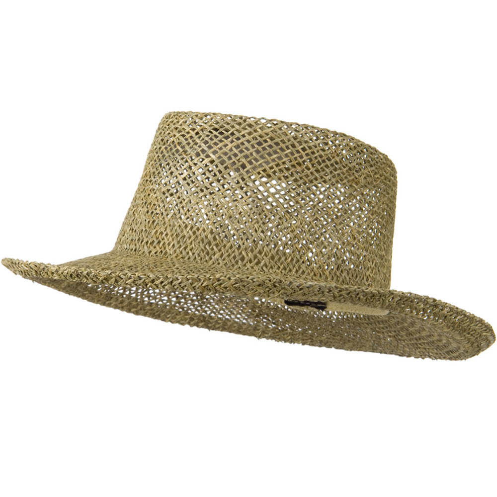 Gambler Straw Hat with Flat Top - Natural - Hats and Caps Online Shop - Hip Head Gear