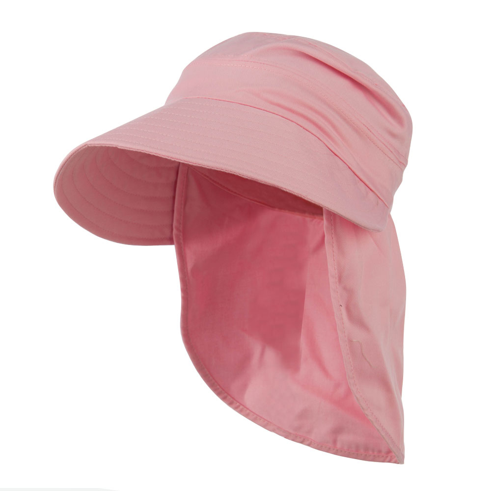 44008ff12cc97 Gardening Sun Hat with Neck Cover - Pink