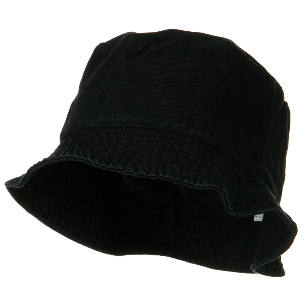 Garment Washed Cotton Twill Bucket Hat - Black - Hats and Caps Online Shop - Hip Head Gear