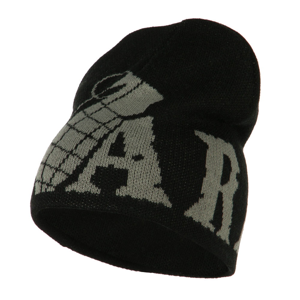Grenade Woven Knit Army Military Beanie - Black - Hats and Caps Online Shop - Hip Head Gear