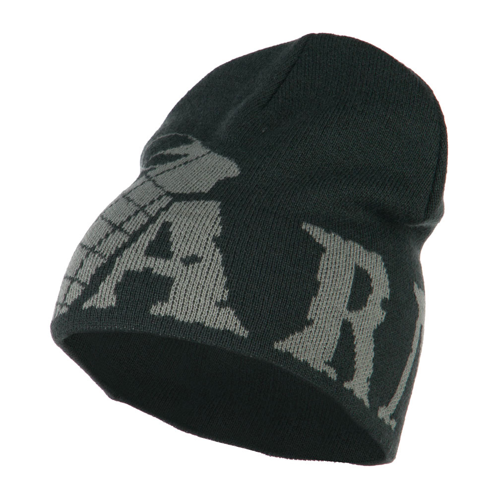 Grenade Woven Knit Army Military Beanie - Charcoal - Hats and Caps Online Shop - Hip Head Gear