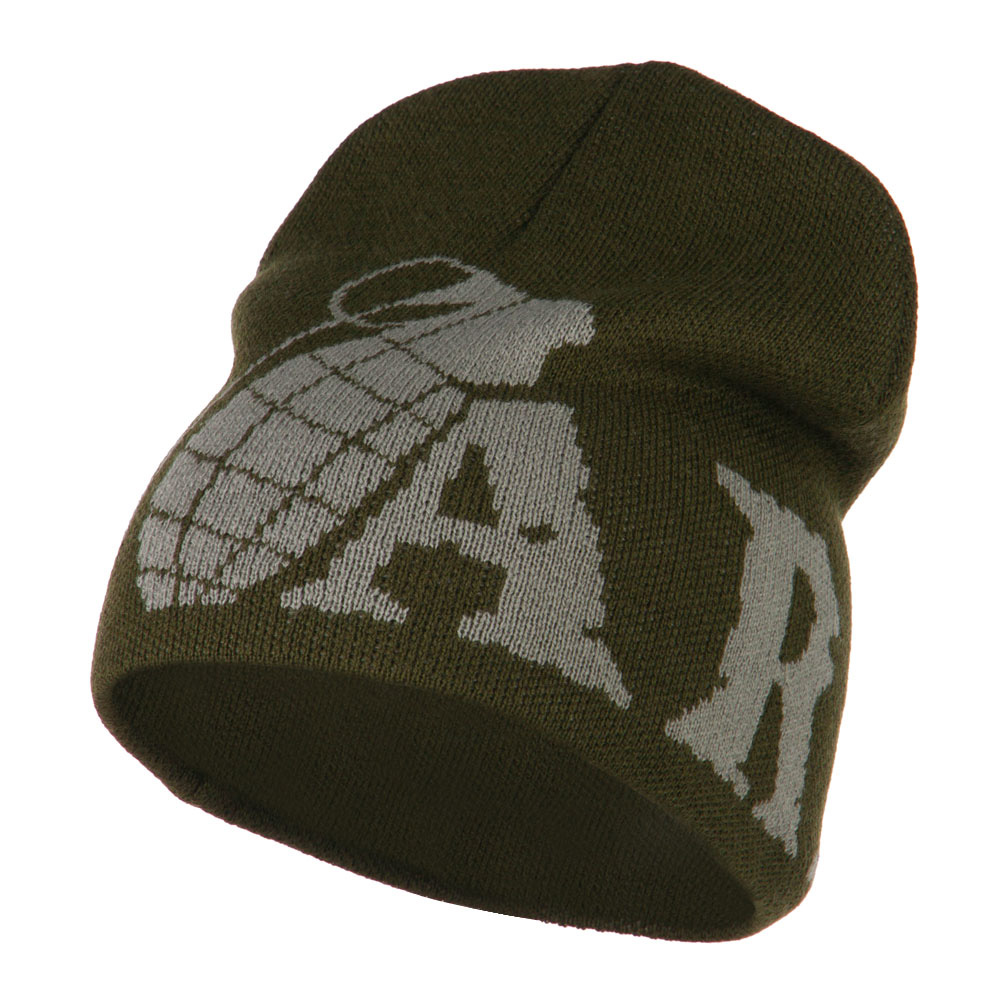 Grenade Woven Knit Army Military Beanie - Olive - Hats and Caps Online Shop - Hip Head Gear