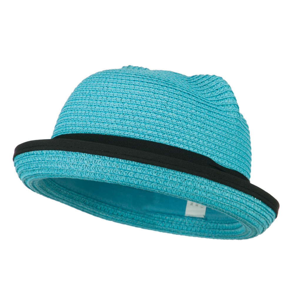 Girl's Youth Ear Crown Fedora - Turquoise - Hats and Caps Online Shop - Hip Head Gear