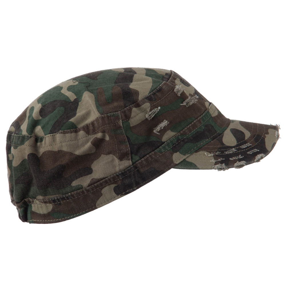 Cotton Herringbone Army Cap - Camo - Hats and Caps Online Shop - Hip Head Gear