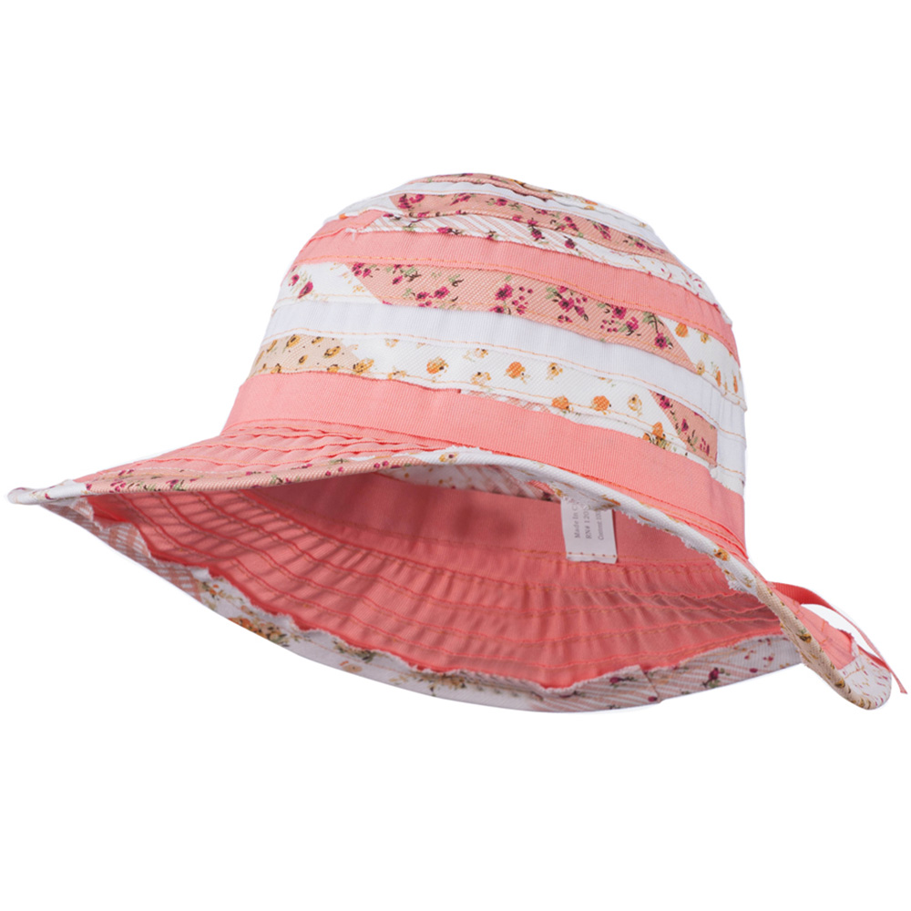 Girl's Hat with Wired Brim - Peach White - Hats and Caps Online Shop - Hip Head Gear